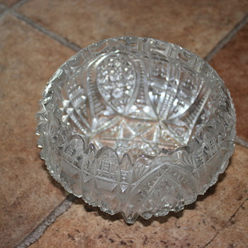 antique clear glass bowl - Glassware