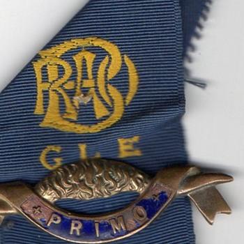 G L E, Primo R O A B masonic / Buffalo enamel badge with blue ribbon, I believe its masonic