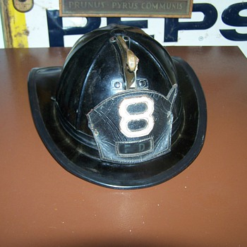 Vintage Antique Firemans Helmet