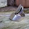 Rather Large Signed Sterling Silver Ring, Flea Market Find, A Buck