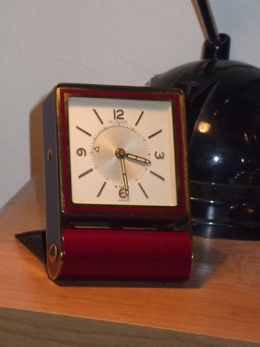 find of the month lecoultre travel alarm clock  collectors weekly - midcentury modern clocks of