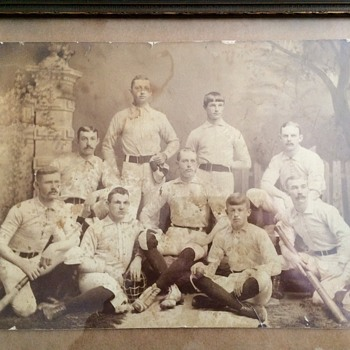 Turn of the century baseball team photo  - Baseball