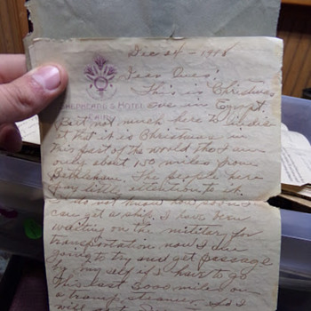 Christmas Away From Home: A WW1 Letter - Christmas