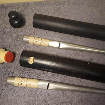 antique pair of 'pitch pipes', once used for tuning pipe organs  - Musical Instruments