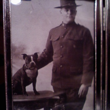 WWI era Soldiers & Sailor with Pit Bull mascots.... - Military and Wartime