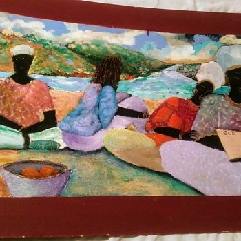 AFRICAN OIL PAINTING - Fine Art
