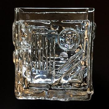 Glass vase by Josef Schott for Smålandshyttan, ca. 1960s - Art Glass