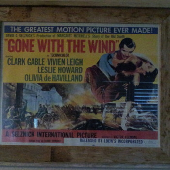 "HELLO EVERYONE !!!!  HOPE ALL OF YOU ARE DOING WELL !!!  JUST GOT ME A 1954 ""GONE WITH THE WIND"" MOVIE POSTER !!!!  HOPE YOU LI - Movies"