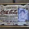 5 cents coca cola mirror brass frame