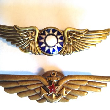 Hello everyone! I found these 2 old pins and was hoping someone could identify them.  - Military and Wartime