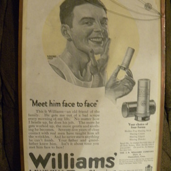 Williams shaving stick advertisement (original) - Advertising