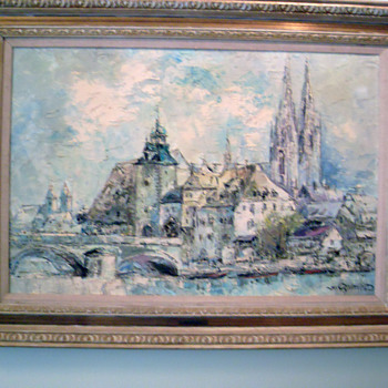 Painting by Prof W.P. Van Ed
