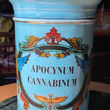 Apothecary Jar of Apocynum cannabinum  - Pottery