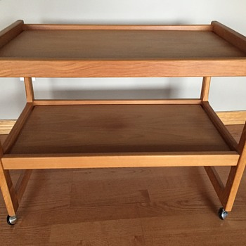 Trolley identification, no stamps or markings. Castors made in England.  - Furniture
