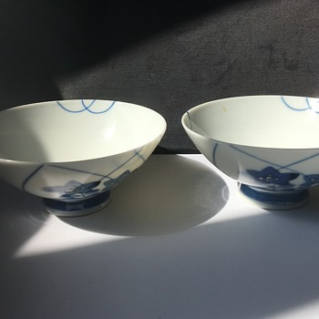 Pair of Japanese noodle bowls  - Asian