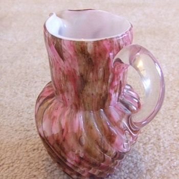 Another Victorian Art Glass cream pitcher - Art Glass