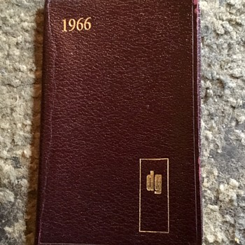Old diary from 1966, Xmas present in 1965. - Office