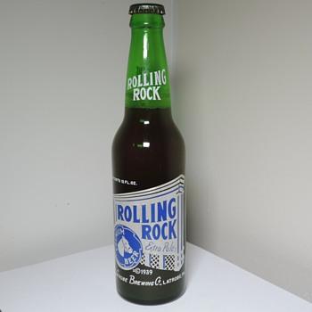 1955 Rolling Rock Beer Bottle Anchor Hocking Green Full Sealed Unopened Latrobe Brewing Pennsylvania - Bottles
