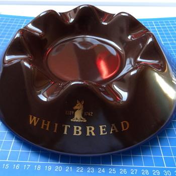 Whitbread ceramic ashtray. - Breweriana
