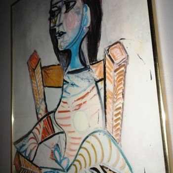 Abstract Woman in Chair - Fine Art