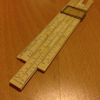A lovely old ivory ruler
