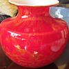 Red Cased Art Glass Vase