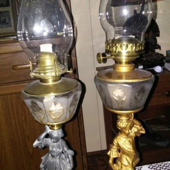 Pair of 1880s figural lamps