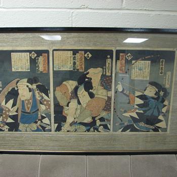 Two Japenese Wood Block Prints