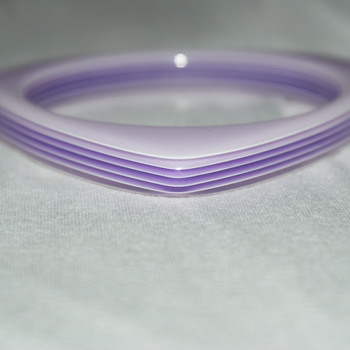 Laminated Purple Lucite Bangel - Costume Jewelry