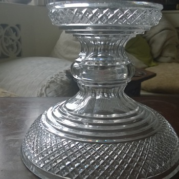 Glass dish/stand with mystery central hole - Glassware