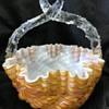 Victorian Welz spatter glass basket