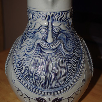 Large Made in Western Germany Stein - Father Christmas - Can't identify mark - help!! :) - Pottery