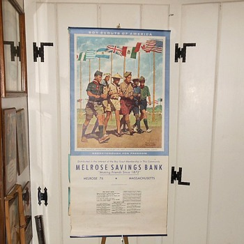 Melrose Savings Bank Boy Scout 1967 Calendar Norman Rockwell - Paper