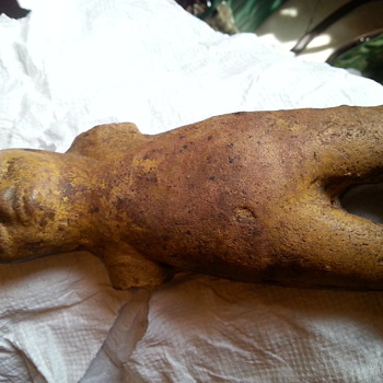 Baked clay stone doll found in back yard - Fine Art