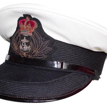Pre 1974 British Royal Navy Chaplain's visor cap - Military and Wartime
