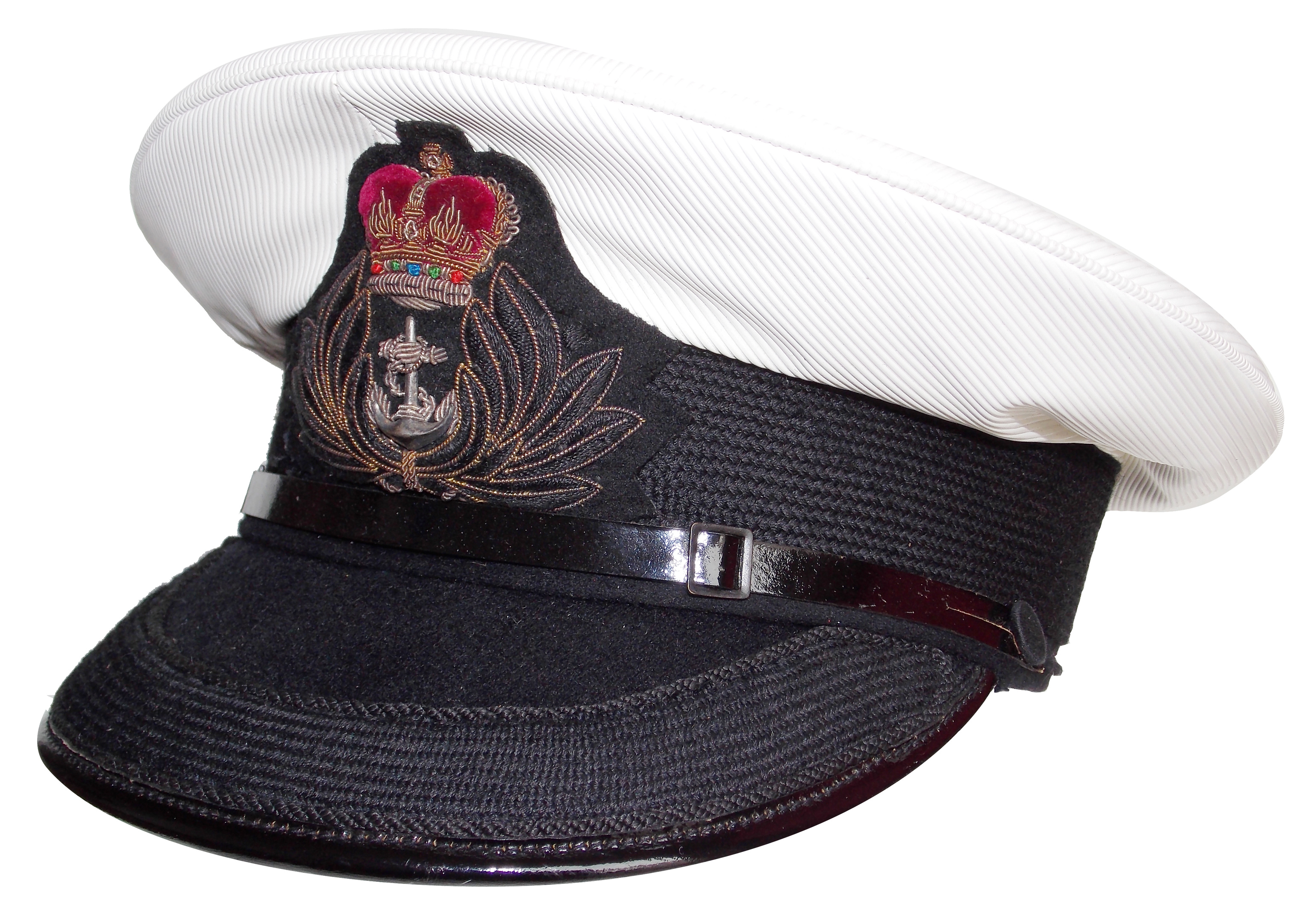 Pre 1974 British Royal Navy Chaplain's visor cap | Collectors Weekly