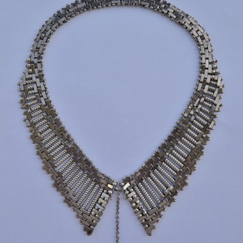 1930's Machine Age Jakob Bengel Necklace - Art Deco