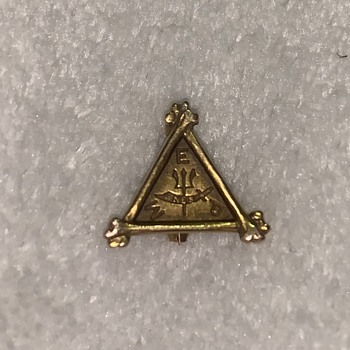 Found Pin (bones, trident, sword) - Medals Pins and Badges