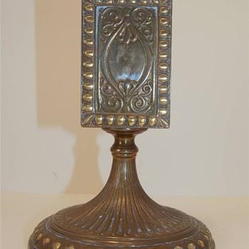 Rare Antique TIFFANY BRONZE and Gold MATCH BOX HOLDER