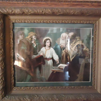 Very Special Person In Oak Frame... Copy Righted 1905 Gray Litho New York & Chicago - Posters and Prints