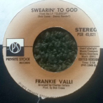 Frankie Valli 45 Record - Records