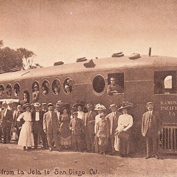 Postcard San Diego to La Jolla Motorcar Circa 1910 - Postcards