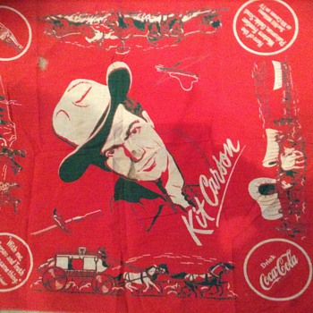 1953 coca cola kit carson kerchief with original card - Coca-Cola