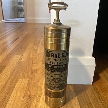 Brass fire extinguisher  - Firefighting