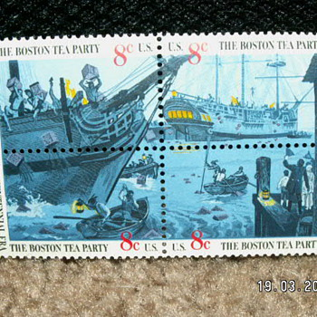 1973 Boston Tea Party Bicentennial Era 8¢ Stamps