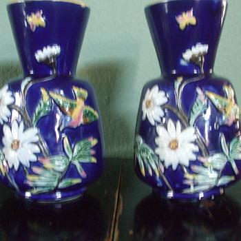 Joseph Holdcroft majolica vases - Pottery