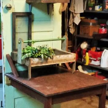 repurposed potting bench - Furniture