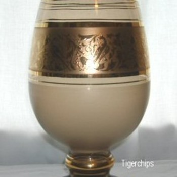 Crystalex gold banded vase - Art Glass