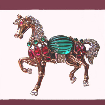 Trifari Mogul Horse  -  From my personal collection