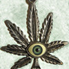 Vietnam Vet's 1960's Psychedelic Hippie Pendant with Glass Eyeball